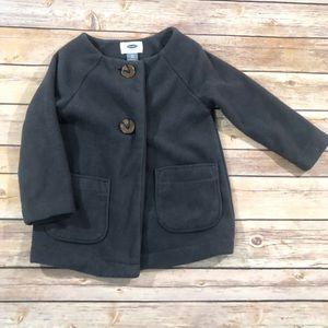 Old navy gray fleece pea coat size 2T